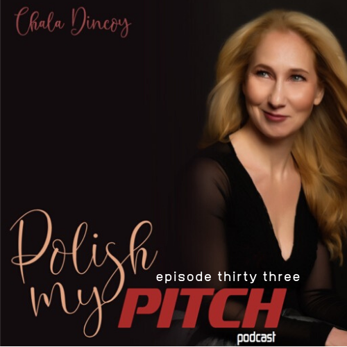 Polish My Pitch Podcast episode thirty three with Amy Vodarek, Coach